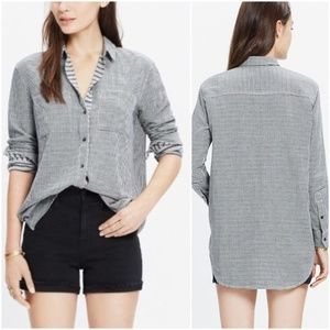 Madewell | Boyshirt Mini Gingham Button Front Top